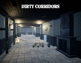 Dirty Corridors for Unreal 3D model