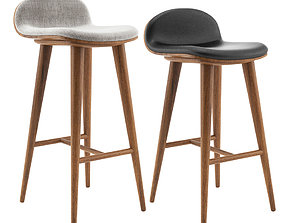 Article Sede Barstool and Barcounter 3D model dinning