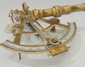 Sextant 3D brass