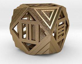 Dice 3D printable model game present