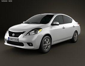 3D model Nissan Versa Tiida sedan 2012