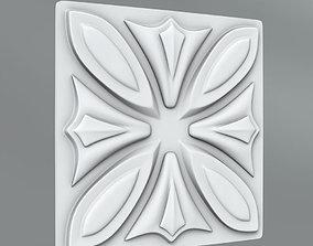 carved Square decoration 3D