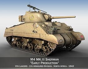 army M4 Sherman MK III - Early Production 3D model