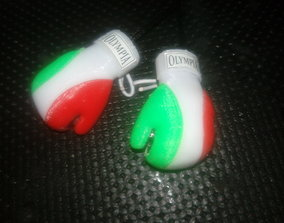 3D printable model boxer glove tricolore 5 parts