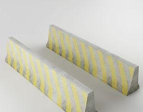3D model Traffic concrete barrier 03