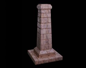 Pillar 3D asset low-poly