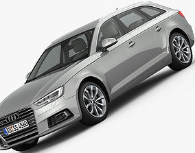 3D model Audi A4 Avant 2016 detailed interior