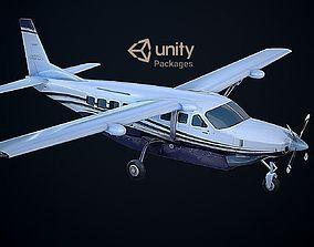 Cessna 208 Caravan 3D model realtime