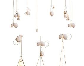 Catch lindsey adelman chandelier 3D