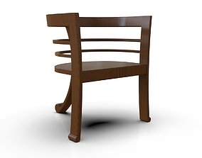 3D asset Simple Wooden Chair