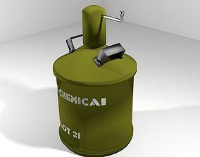 Landmine Chemical gas mine 3D