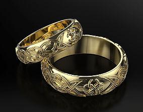 3D print model Wedding rings with a Slavic wedding 2