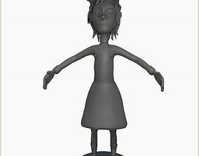 3D cartoon girl caricature woman