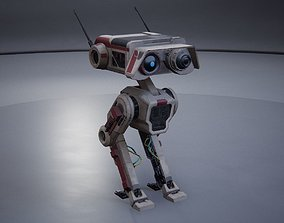 3D model Droid DB-1 - Rigged - Game Ready -