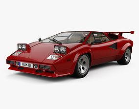 3D Lamborghini Countach 5000 QV with HQ interior 1985