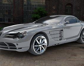 Mercedes Benz SLR MClaren 3D asset low-poly
