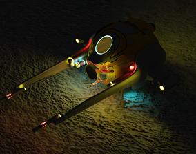 spaceship 3D model VR / AR ready Spaceship