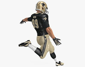 3D model American Football Player New Orleans Saints Fur