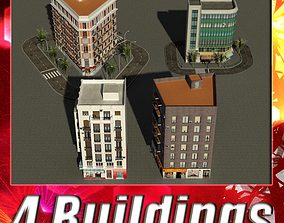 3D model Building Collection 21-24