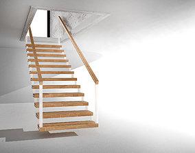 3D model Line stair