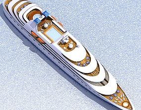 Cruise Ship 02 3D