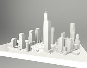 3D model One World Trade Center New York City