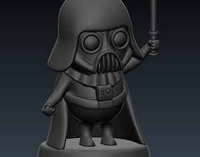 3D printable model Darth Vader in Steam wars
