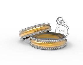 Wedding rings for bride and groom 3D printable model