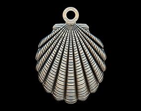 Shell key ring pendant 3D print model