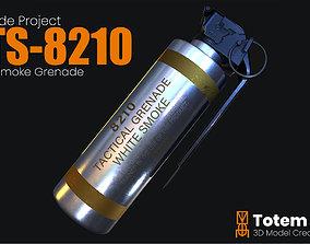 CTS 8210 Smoke Grenade 3D asset