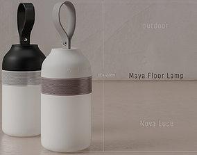 Maya Floor-Table Lamp 3D asset