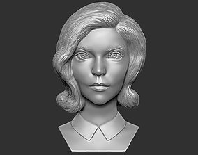 Beth Harmon from Queens Gambit bust 3D printing ready stl