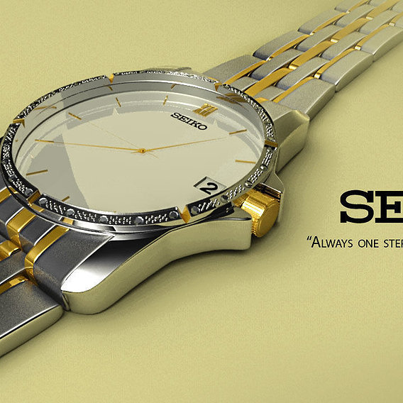 Seiko wrist watch 3d  model