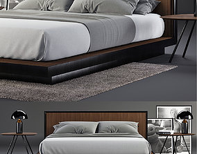 Envy Queen Bed SET 3D model garrage