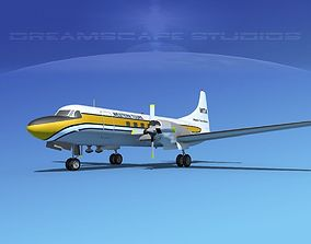 Convair CV-580 Western Tours 3D model