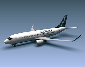 3D model Boeing 737-300w airliner