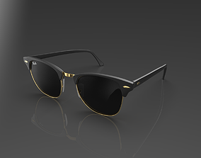 Ray Ban Clubmaster Glasses 3D asset