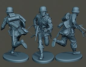 3D printable model German soldier ww2 running G2