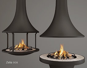 3D Central Fireplace