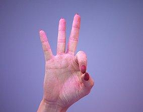 Sign Alphabet F 3D model