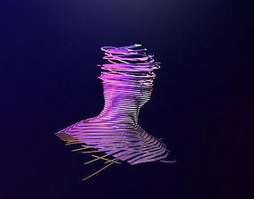 Ribbonised Face Model 3D