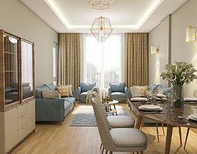 Modern Living Room livingroom interiorscene 3D model