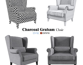 3D Realistic Charcoal Graham Chair