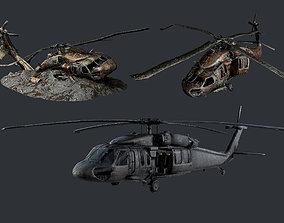 Sikorsky UH60 Black Hawk Military Helicopter 3D asset 3