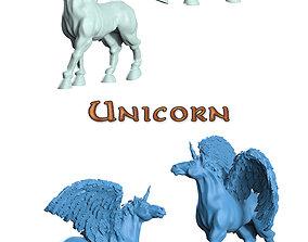 Unicorn 3D printable model dungeons