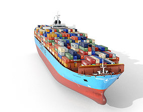 Maersk container ship 300m 3D asset