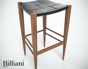 3D Billiani Vincent VG stool 445 teak