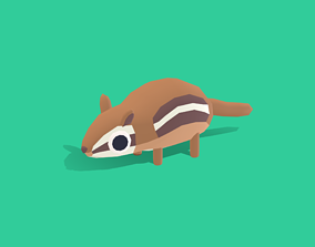 3D model Cashew the Chipmunk - Quirky Series