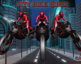 Bike Rider Gaming 3D asset