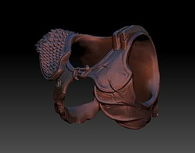 3D print model predator 2 inspired chest armour